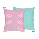 Skylar Pink and Turquoise Reversible Accent Throw Pillow