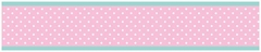 Skylar Pink and Turquoise Wallpaper Border