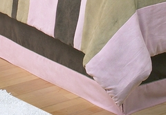 Soho Pink Modern Kids Bedding Queen Bed Skirt by Sweet Jojo Designs