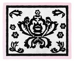 Sophia Damask Accent Floor Rug by Sweet Jojo Designs