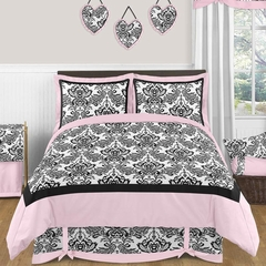 Sophia Damask Kids or Teen Bedding - 3 Piece Full/Queen Set