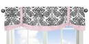 Sophia Damask Print Window Valance by Sweet Jojo Designs