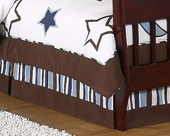 Stars and Moon Collection Toddler Bed Skirt by Sweet Jojo Designs