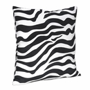 Turquoise Blue Collection Zebra Decorative Pillow