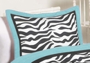 Turquoise Blue Zebra Collection Pillow Sham by Sweet Jojo Designs