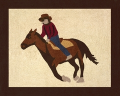 Wild West Cowboy Accent Floor Rug by Sweet Jojo Designs