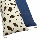 Wild West Cowboy Cow Print Body Pillow Cover