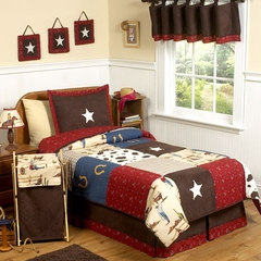 Wild West Cowboy Kids Bedding - 3 Piece Full/Queen Set