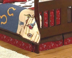 Wild West Cowboy Toddler Bed Skirt by Sweet Jojo Designs