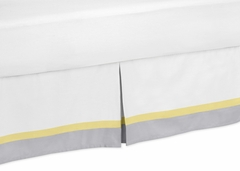 Yellow and Gray Mod Garden Collection Toddler Bed Skirt