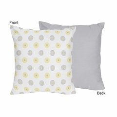 Yellow and Gray Mod Garden Decorative Accent Throw Pillow