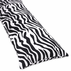 Zebra Print Turquoise Collection Body Pillow Cover