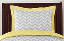 Zig Zag Chevron Yellow, White and Gray Collection Pillow Sham