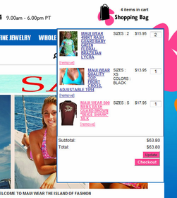 Floating Mini Shopping Cart - Click to enlarge