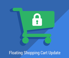 Floating Shopping Cart Update - Click to enlarge