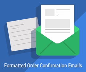 Formatted Order Confirmation Emails - Click to enlarge