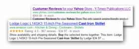 Rich Snippets for Yahoo Stores - Click to enlarge