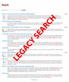 Yahoo! Store New Advanced Search Setup - Click to enlarge