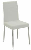 120767 WHITE DINING CHAIR  2PCS