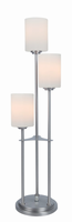 3-lite Table Lamp, Brushed Nickel/frost Glass, E27 A 60wx3
