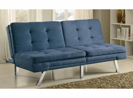 BLUE FABRIC SOFA BED 300212