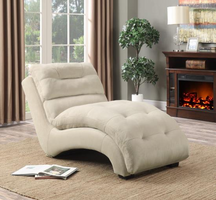 550347 Accent Chaise with Arched Base by Coaster Furniture