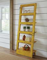 801649 Solid Pine Rustic Yellow Etagere