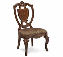 A.R.T. ART Old World Shield Back Side Chair with Leather Seat