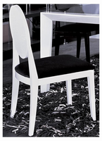 Joss - Modern White & Black Lacquer Chair (Set of 2)