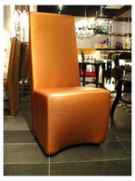 A&X Maud Modern Gold Leatherette Dining Chair