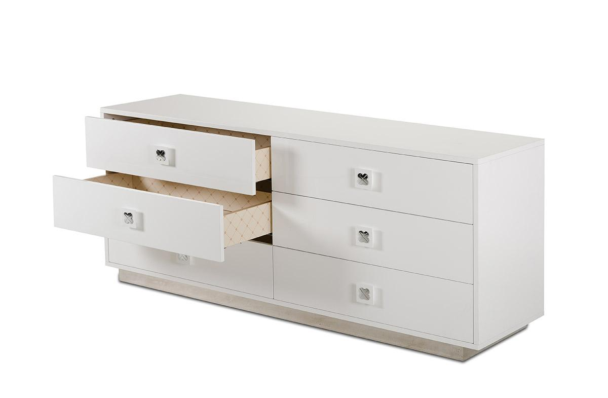 A X Monica Modern White Gloss Dresser Table