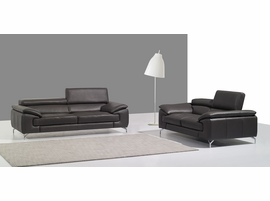 A973 Premium Sofa  in Coffee, BLACK, WHITE AND GREY