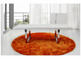 AA835-180 Extendable White Dining Table