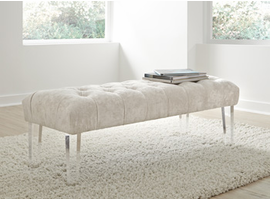 Ashley Express Furniture - Brooklee - A3000076 - Accent Bench, Ivory