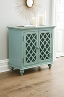 Ashley Express Furniture - Mirimyn - A4000061 - Accent Cabinet, Antique Teal