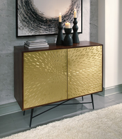 Ashley Express Furniture - Majaci - A4000052 - Accent Cabinet, Brown/Gold