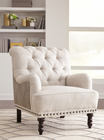 Ashley Furniture - Tartonelle - A3000053 - Accent Chair, Ivory/Taupe