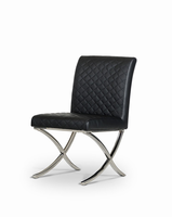 Adderley - Modern Black Leatherette Dining Chair (Set of 2)
