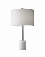 Adesso Blythe Table Lamp, White Base