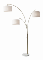 Adesso Bowery 3 Arm Arc Lamp, Atq Brs