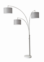 Adesso Bowery 3 Arm Arc Lamp-steel