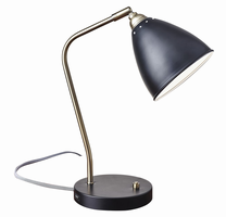 Adesso Chelsea Desk Lamp, Black