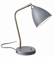 Adesso Chelsea Desk Lamp, Gray