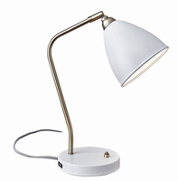 Adesso Chelsea Desk Lamp, White