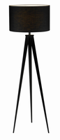 Adesso Director Floor Lamp, Black