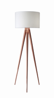Adesso Director Floor Lamp, Copper
