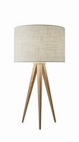 Adesso Director Table Lamp, Natural
