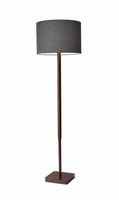 Adesso Ellis Floor Lamp, Walnut