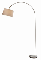 Adesso Goliath Arc Lamp, Satin Steel