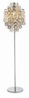 Adesso Shimmy Floor Lamp-chrome